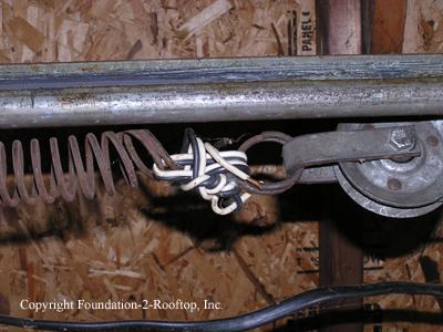 Rigged garage door spring