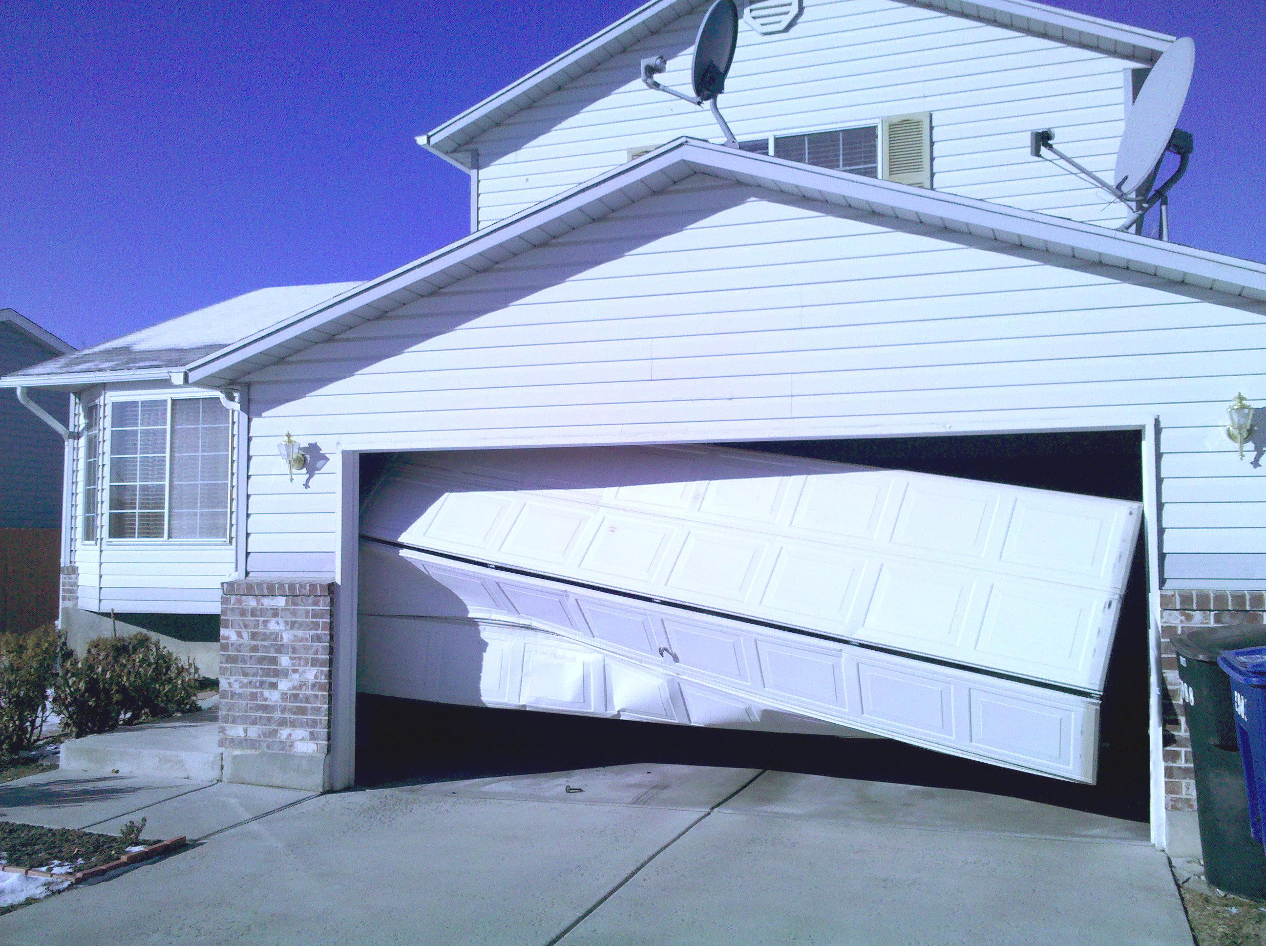 Rigged Garage Door Spring. Door2